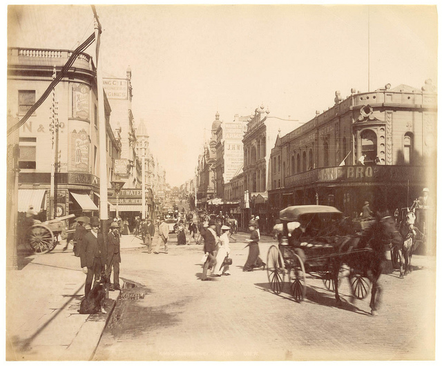 King St, Sydney from Fred Hardie - Photographs of Sydney, Newcastle, New South Wales and Aboriginals for George Washington Wilson & Co., 1892-1893