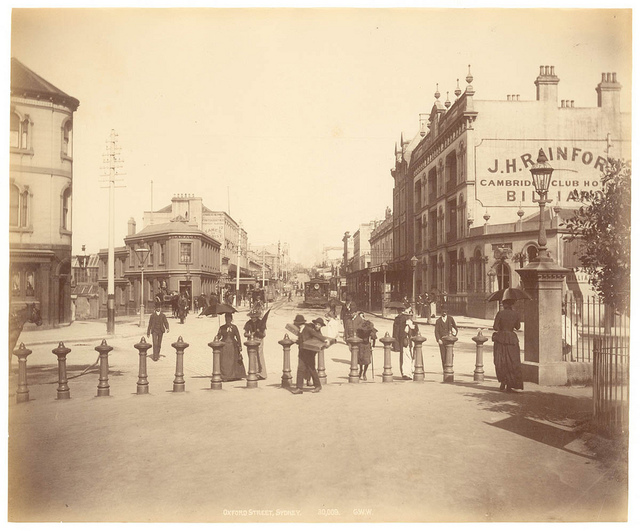 Oxford St, Sydney from Fred Hardie - Photographs of Sydney, Newcastle, New South Wales and Aboriginals for George Washington Wilson & Co., 1892-1893