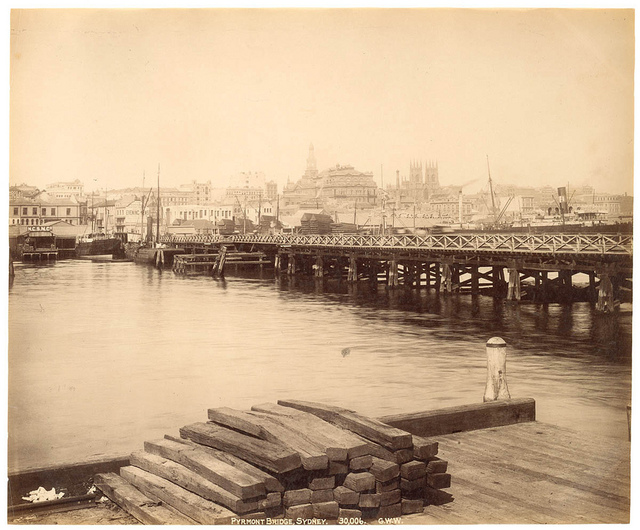 Pyrmont Bridge, Sydney from Fred Hardie - Photographs of Sydney, Newcastle, New South Wales and Aboriginals for George Washington Wilson & Co., 1892-1893