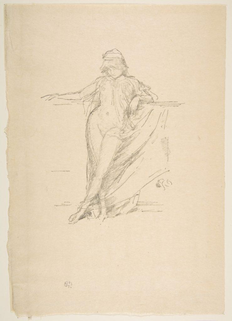 Little Draped Figure, Leaning