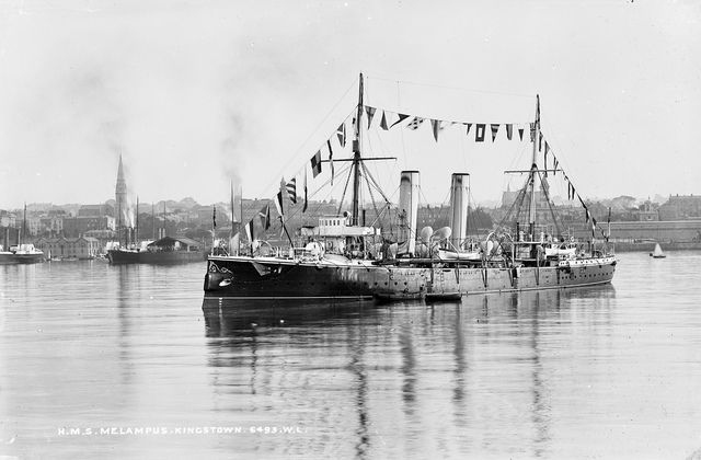H.M.S. Melampus in all her glory