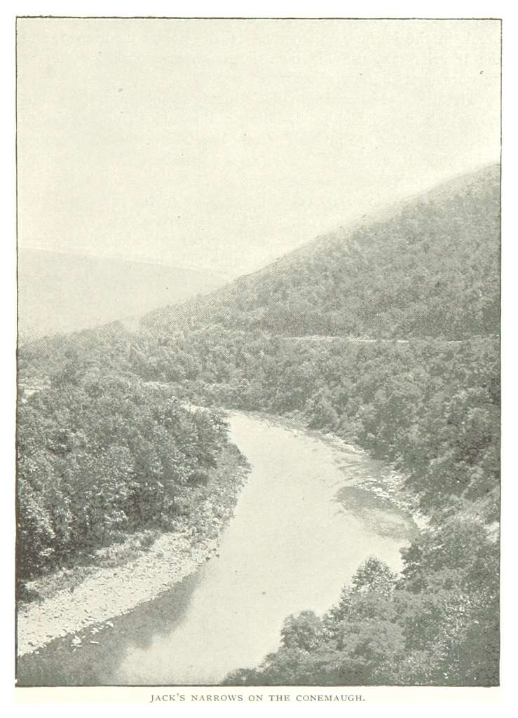 PRR(1893) p055 JACK'S NARROWS ON THE CONEMAUGH