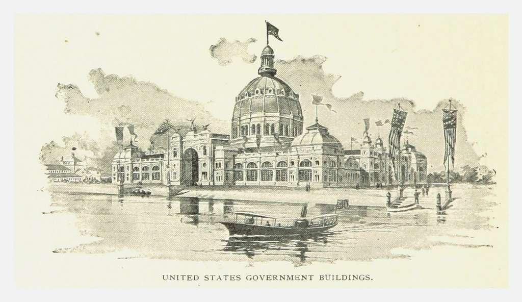 PRR(1893) p138 U.S. GOVERNMENT BUILDING, Chicago
