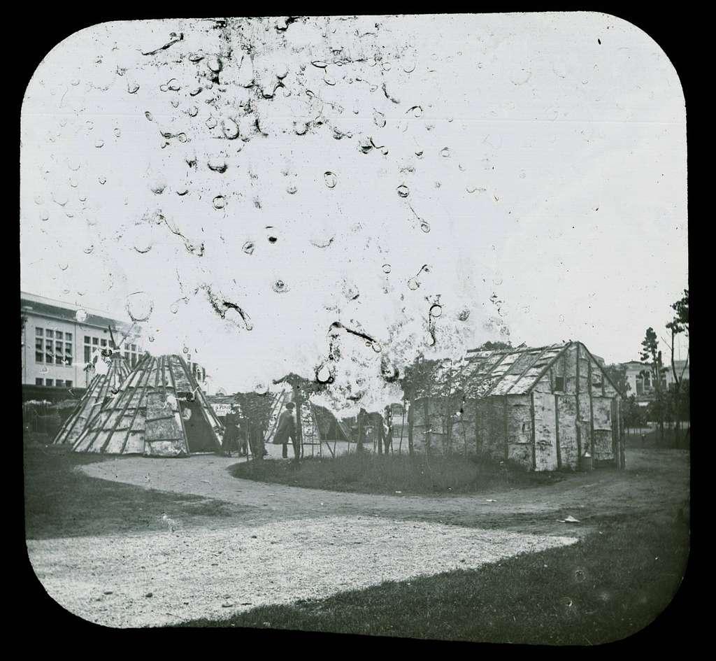 World's Columbian Exposition lantern slides, Indian Village, Midway Plaisance (NBY 8787)