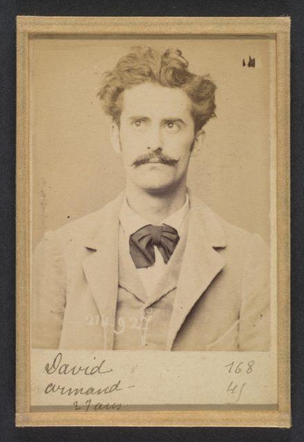 David. Armand, Auguste. 27 ans, né à Gien (Loiret). Faïencier. Anarchiste. 1/3/94.
