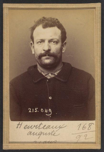 Heurteaux. Auguste. 31 ans, né à Paris Xe. Polisseur. Anarchiste. 3/3/94.