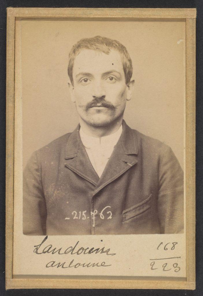 Landoin. Antoine, Eugène. 33 ans, né le 16/11/60 à Quincie (Rhône). Comptable. Anarchiste. 16/3/94.
