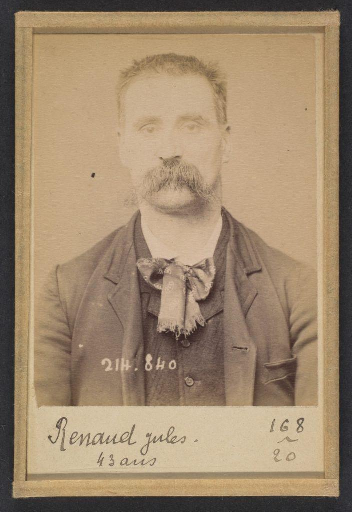Renaud. Jules. 41 ans, né à Anteuil (Doubs). Cordonnier. Anarchiste. 27/2/94.