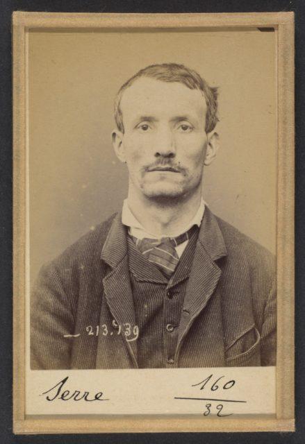Serre. Auguste. 37 ans, né à Anonnay (Ardêche) le 13/10/56. Mégissier. Anarchiste. 20/1/94.