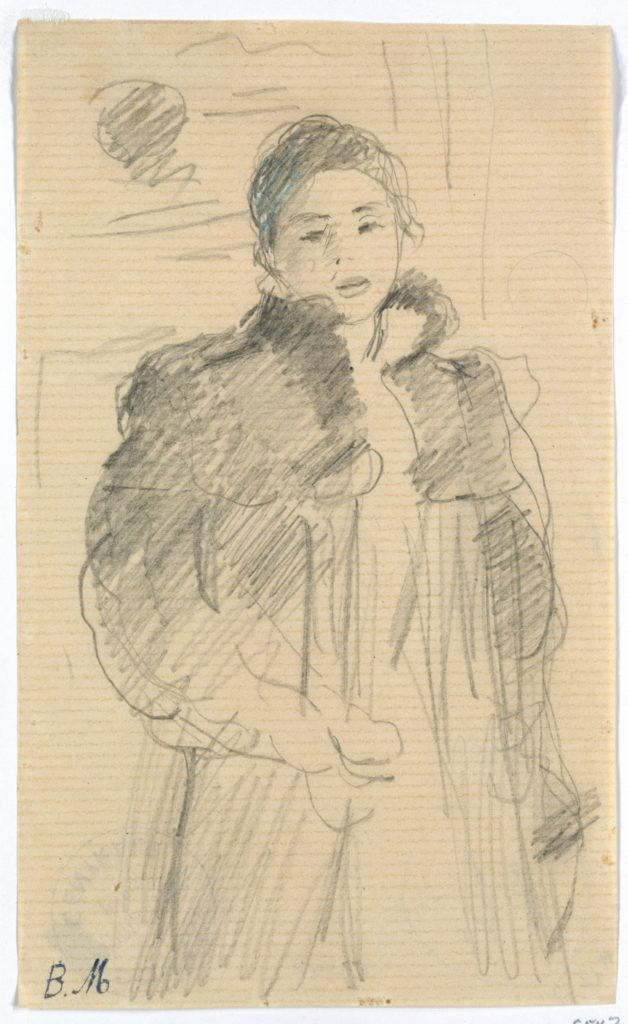 """Study for """"Young Girl in a Green Coat"""""""
