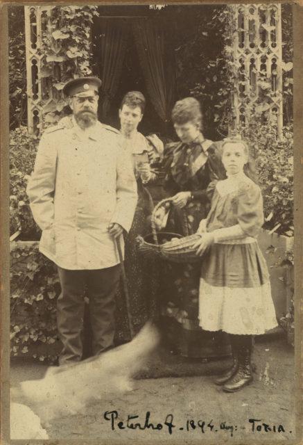 Alexander III, Maria Feodorovna, Queen Alexander and Grand Princess Olga Alexandrovna.