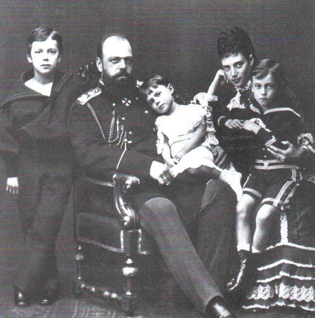 Alexander III, the Emperor of Russia - his family portrait