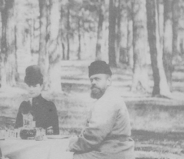 Emperor of Russia Alexander III and Empress Maria Feodorovna on a picknick
