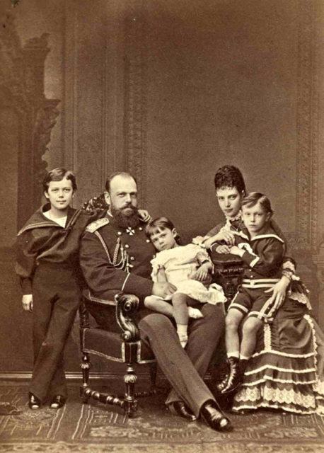 Alexander III, his family