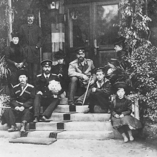 Alexander III with members of Romanov family