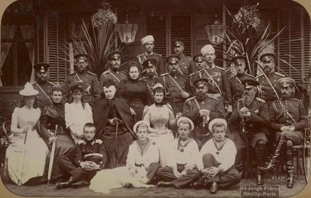 Alexander III with members of Romanov family