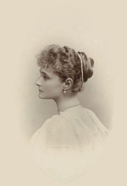 Alexandra Feodorovna, Empress of Russia (1872-1918) when Princess Alix of Hesse  circa 1894