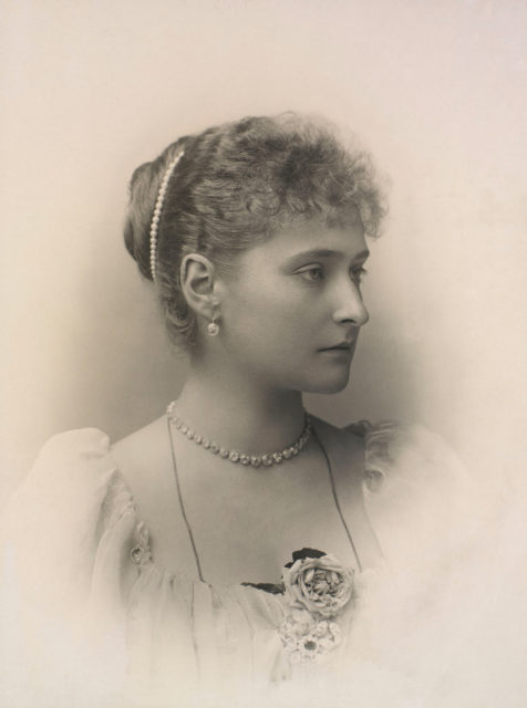 Alexandra Feodorovna, Empress of Russia (1872-1918) when Princess Alix of Hesse  circa 1894