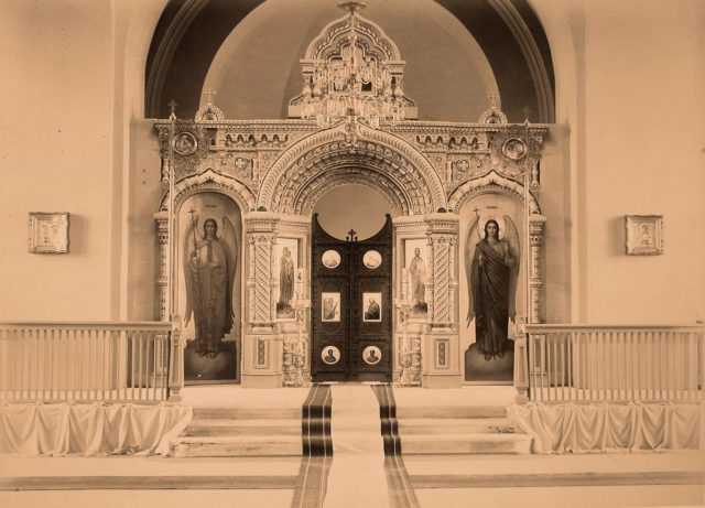 Altar of the Orthodox Church of Belovezhskaya Pushcha.