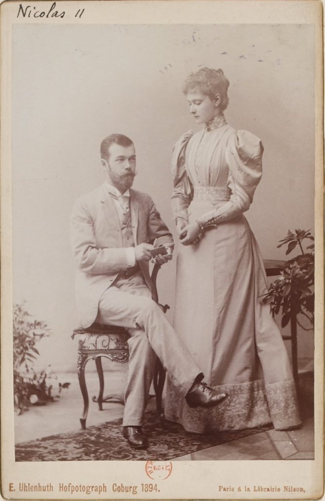 Emperor of Russia Nicolas II with wife - portrait, 1898