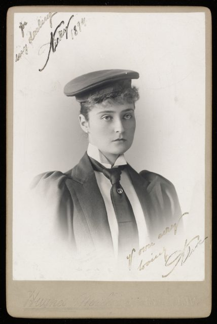Empress Alexandra Feodorovna in the form of a student