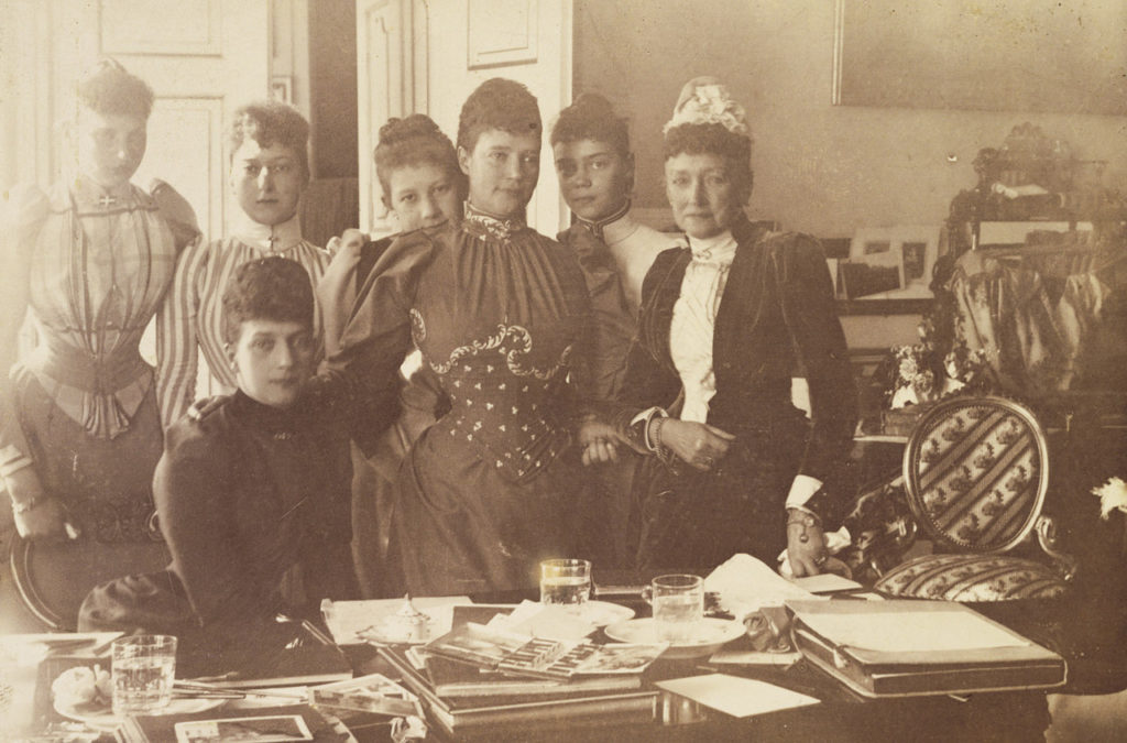 Empress Maria Feodorovna, Louise Hesse-Kassel and Alexandra Danish with others. Denmark.