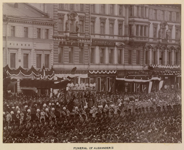 Funeral procession of Alexander III
