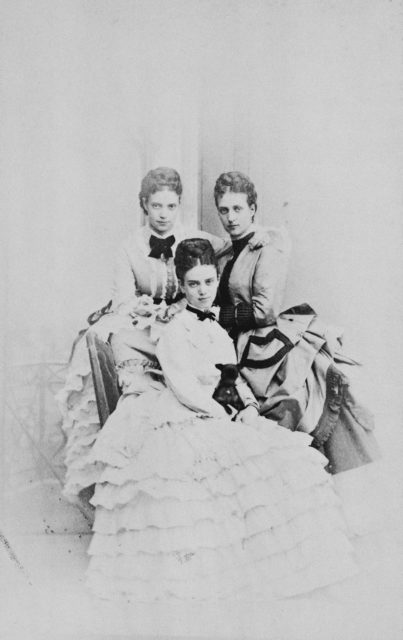 Princess Alexandra, Tsarevna Maria Feodorovna and Princess Tire