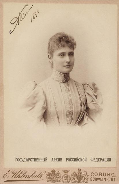 Princess Alix of Hesse . 1894.