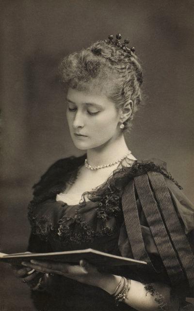 Princess Alix of Hesse ( later Alexandra Feodorovna, Empress of Russia ). circa 1894