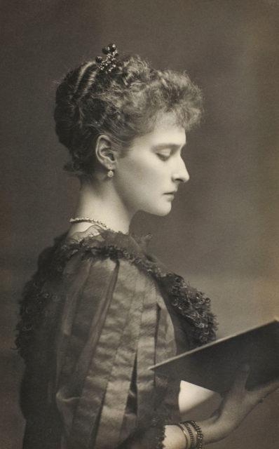 Princess Alix of Hesse ( later Alexandra Feodorovna, Empress of Russia ). circa 1894.
