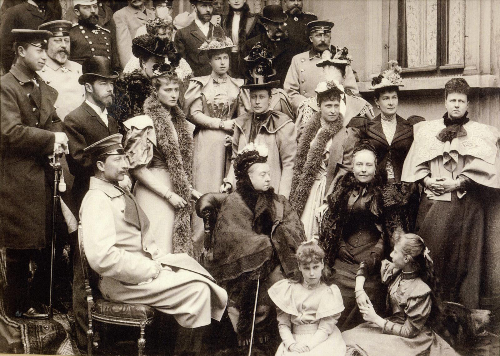 Queen Victoria of Britain, Kaizer Of Germany Wilhelm, Nicholas II, Empress Alexandra Feodorovna and members of European Royal Families. Koburg, 1894
