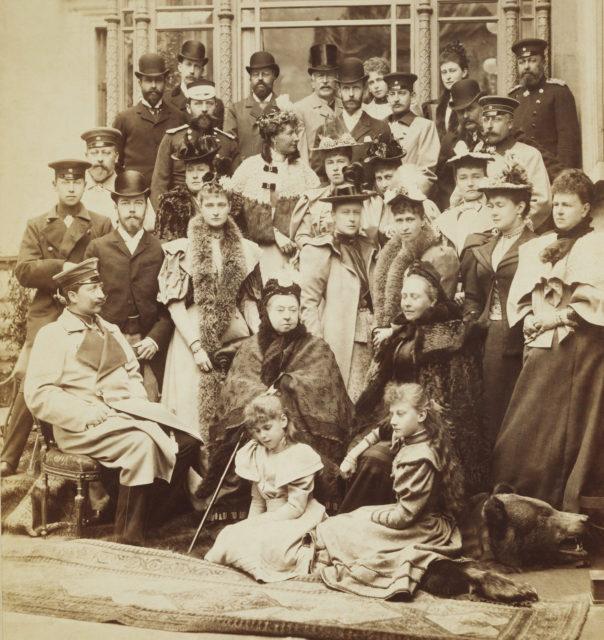 Royal family group photograph at Coburg
