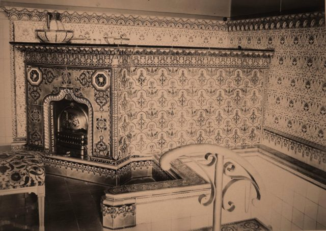 The bathroom of the heir to the Tsarevich in the Imperial Hunting Belovezh Palace.