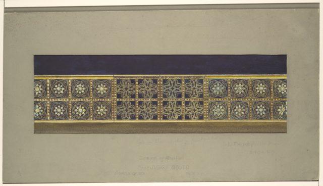 Design of  Altar Rail for St. Paul's Church, Troy, New York