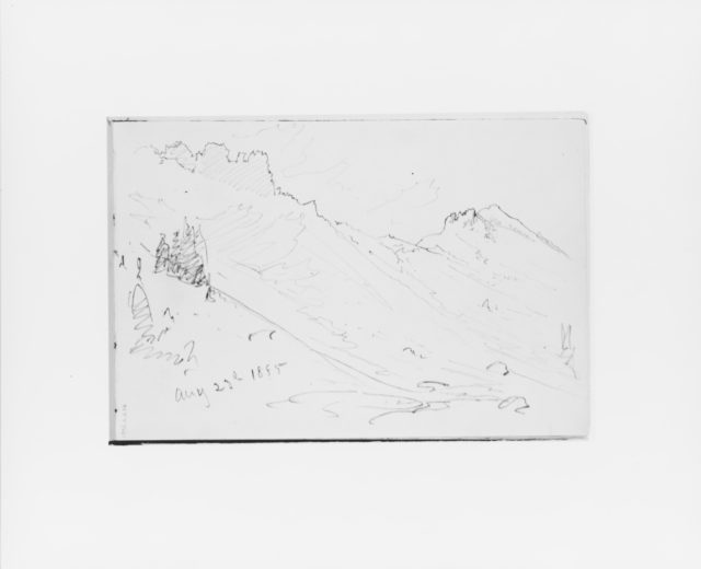Mountain Slope Aug 23 1885 (from Sketchbook X)