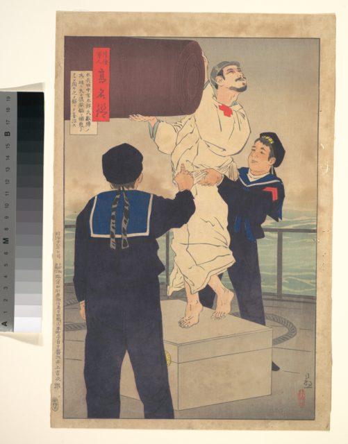 Sailor Tanaka Ichitarō, from the series Mirror of Army and Navy Heroes (Rikkai gunjin kōmyō kagami)