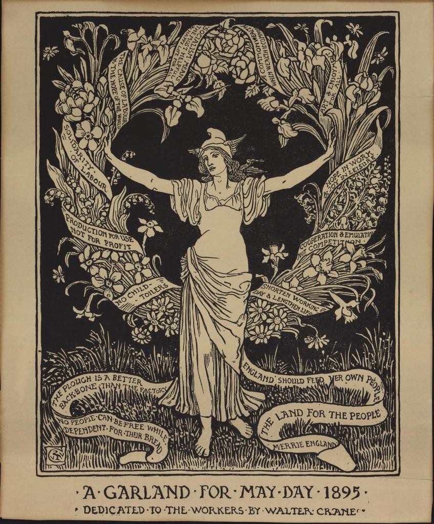 A Garland for May Day 1895, original relief print