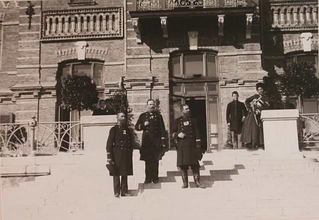 A group of employees at the Belovezhsky Palace