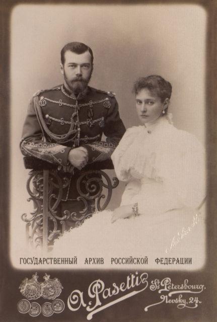 Nicholas II and  Alexandra Feodorovna 1895.