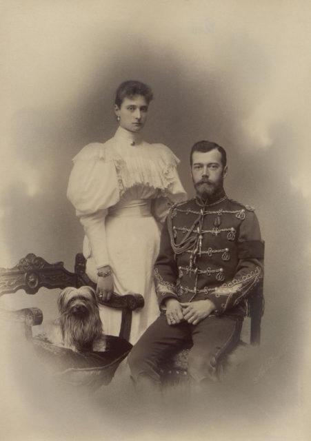 Emperor Nicholas II and Empress Alexandra Feodorovna 1895.