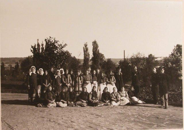 Group of local peasant women. Belovezh.