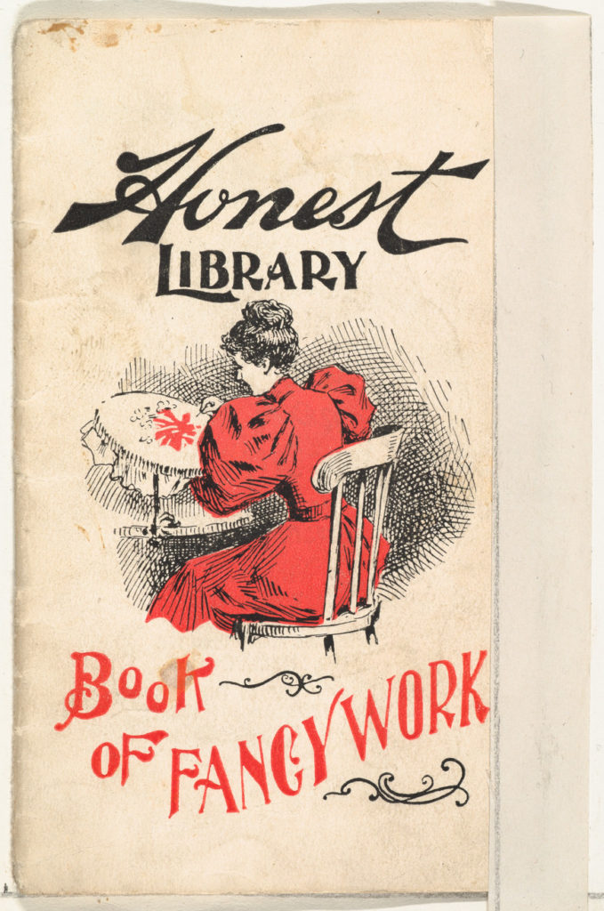 Book of Fancy Work, from the Honest Library series (N115) issued by Duke Sons & Co. to promote Honest Long Cut Tobacco