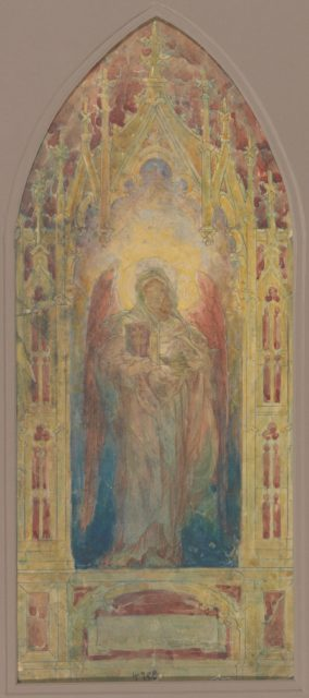 "Design for ""Angel of Faith"" window"