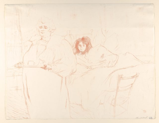 Serving Breakfast (Madame Baron and Mademoiselle Popo) (from the series Elles)