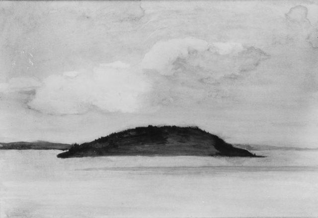 Sheep Porcupine Island, Bar Harbor, Maine, Evening Study, August 29, 1896