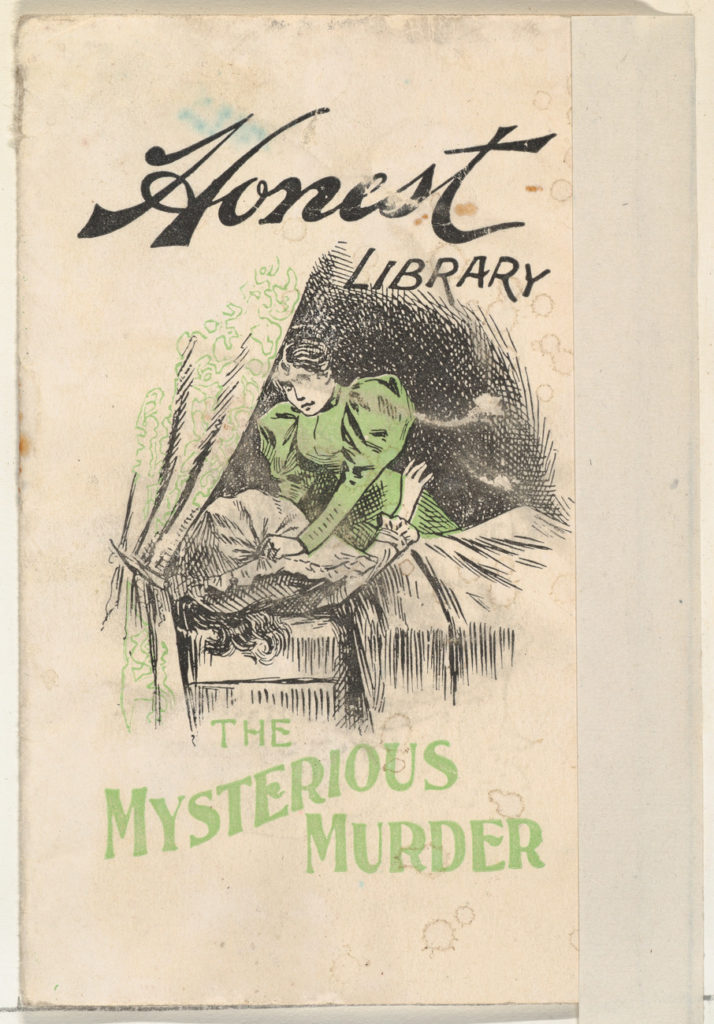 The Mysterious Murder, from the Honest Library series (N115) issued by Duke Sons & Co. to promote Honest Long Cut Tobacco