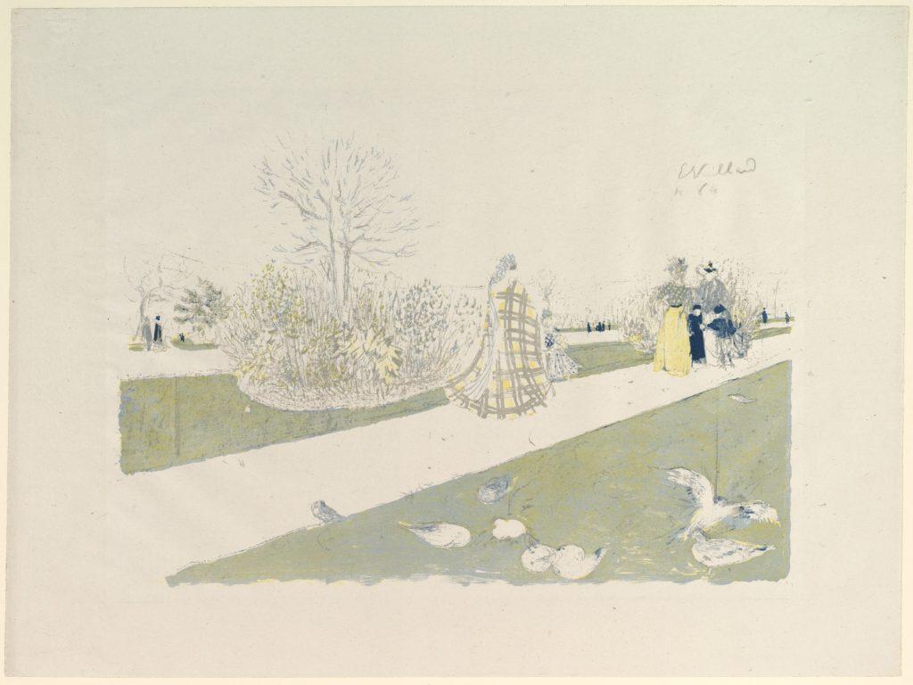 The Tuileries Garden, from Album des Peintres-Graveurs