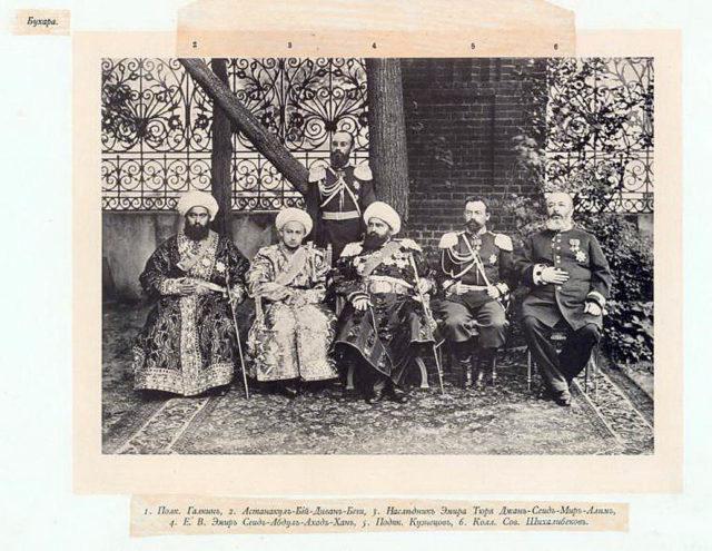 Bukhara Guests of the Coronation of Emperor Nicholas II and Empress Alexandra Feodorovna, 1896.