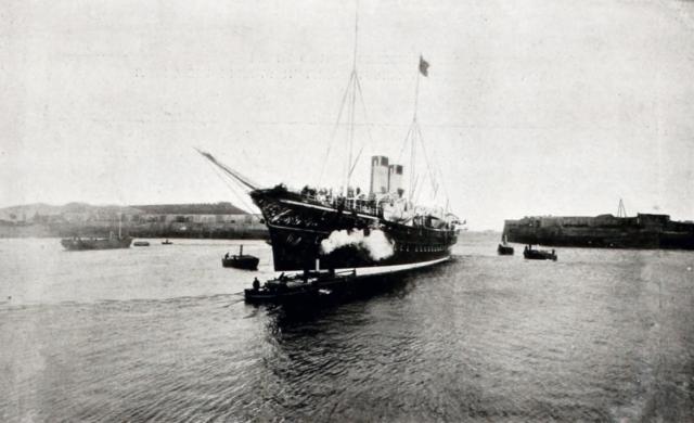 "Cherbourg. The Imperial Yacht ""Polar Star"". Nicholas II, Empress Alexandra Feodorovna, Paris, 1896"